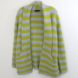 BCBG Striped Cozy Cardigan M